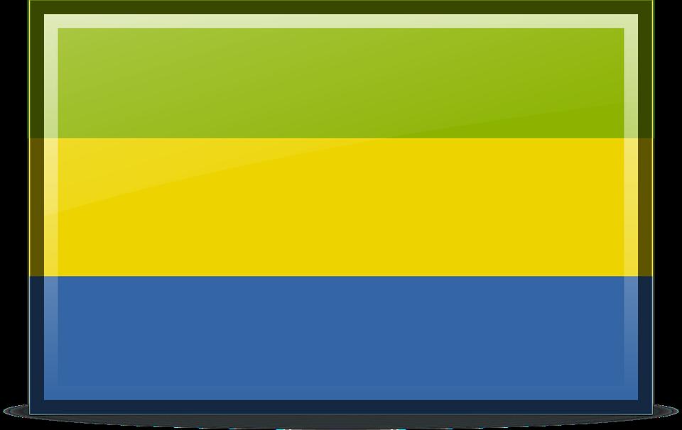 Flag, Gabon, Icons, Rodentia Icons, Symbol, Tricolor