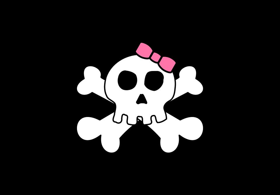 Flag, Face, Skull, Bone, Dead, Death, Creepy, Skeleton