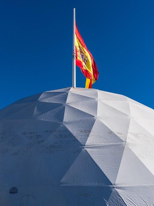 Flag, Madrid, Sky, Spain, Igloo
