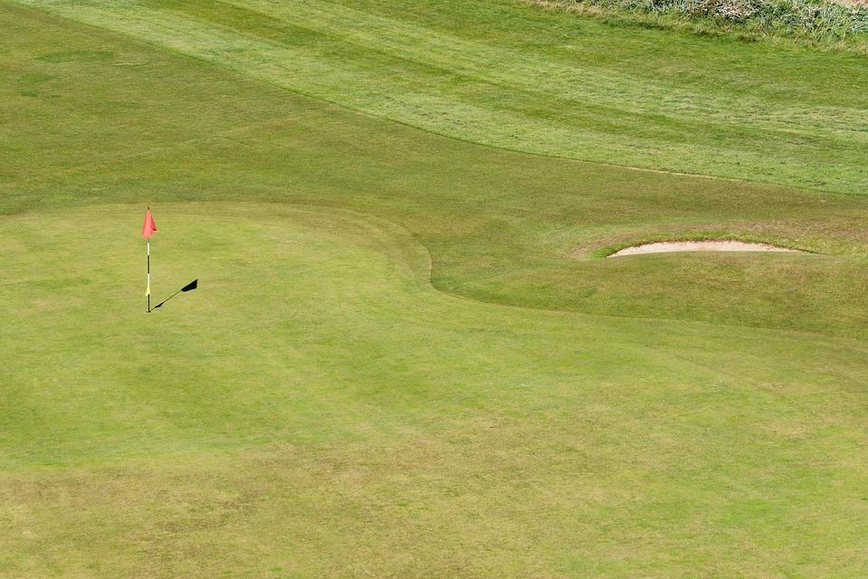 Golf, Golf Green, Flag, Bunker, Green, Sport, Grass