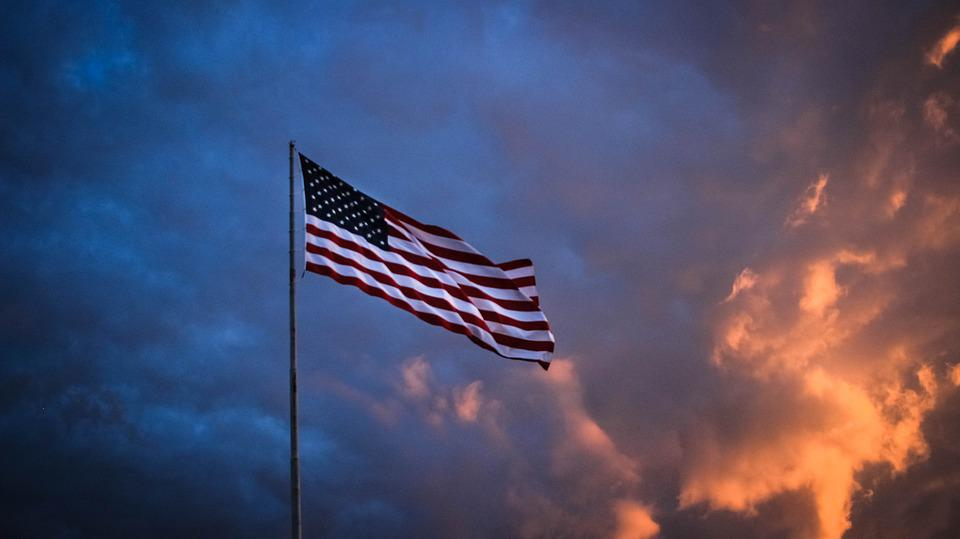 Flag, America, Sunset, Freedom, Patriotic, Usa, 4th