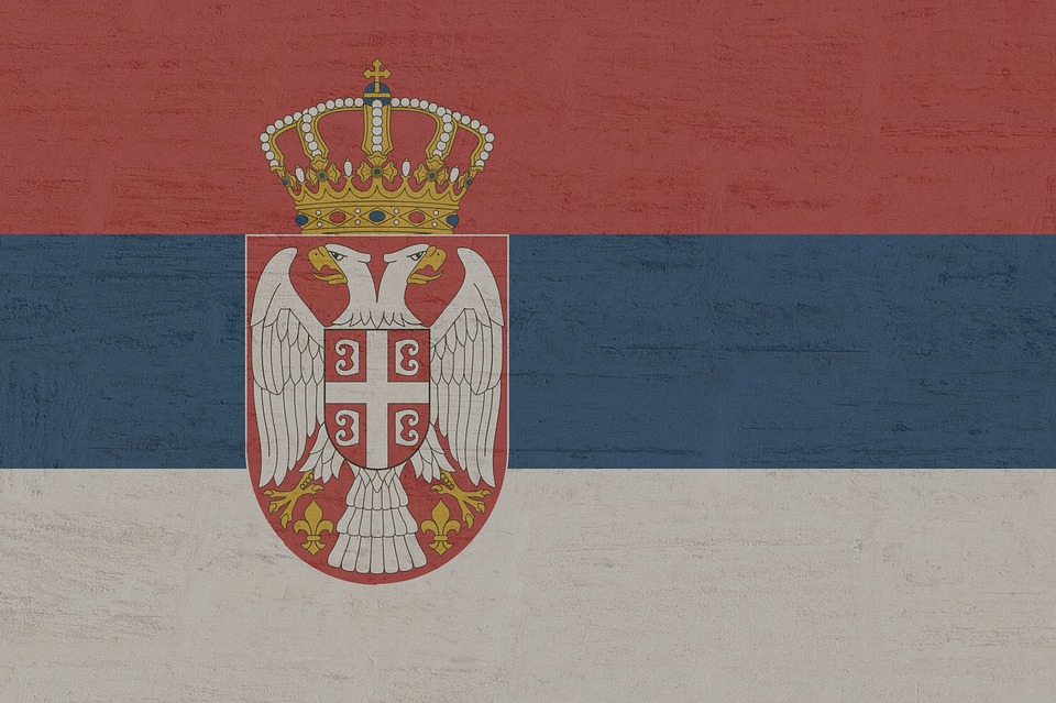 Serbia, Flag, Symbol, Land, Outline