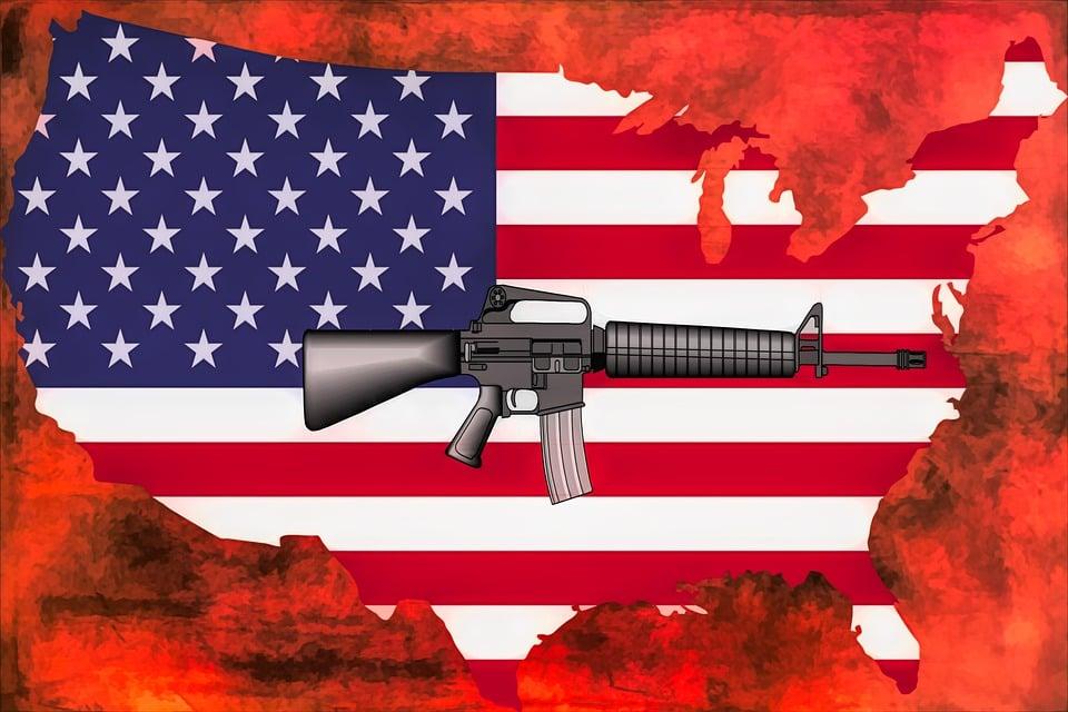 Guns, America, Usa, Patriot, Ar15, Protest, Flag