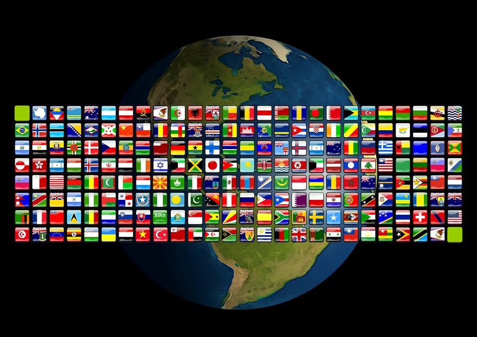 America, Earth, Flags, Flag, Global, Globalization