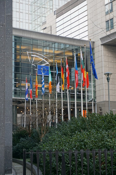 Eu, Brussels, Parliament, Flags, Europe, Union