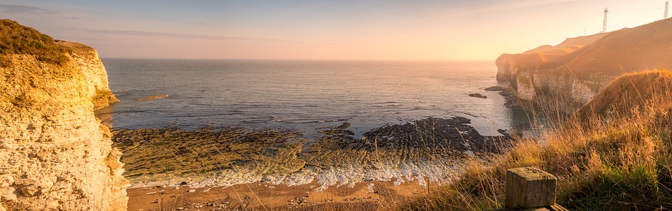 Flamborough Head, Yorkshire, England, Panorama, Sunrise