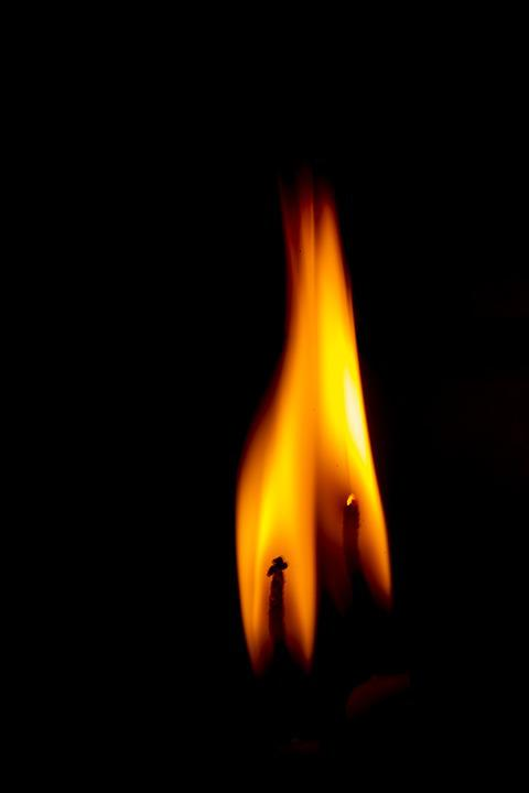 Ali, Flame, In The Dark, Burn, Yellow, Background