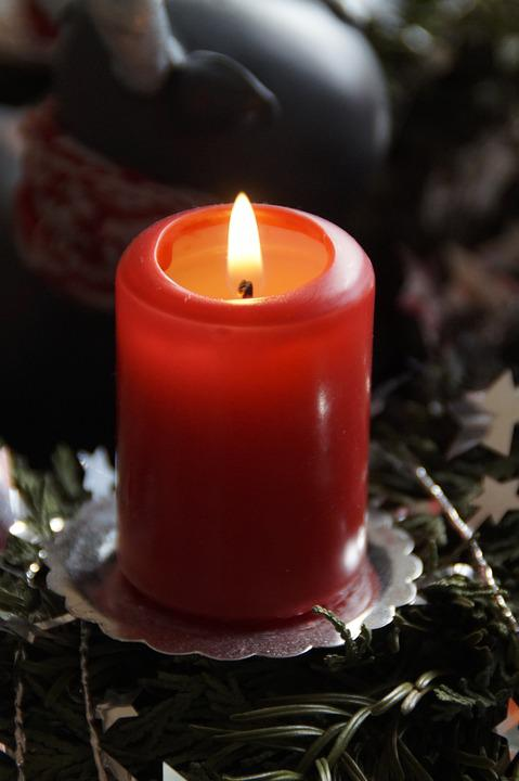Candle, Advent, Advent Wreath, Light, Red, Flame