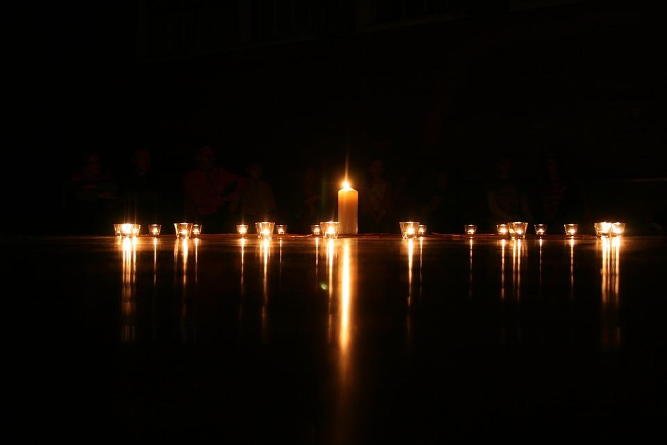 Candle, Light, Dark, Flame, Christmas, Night, Black