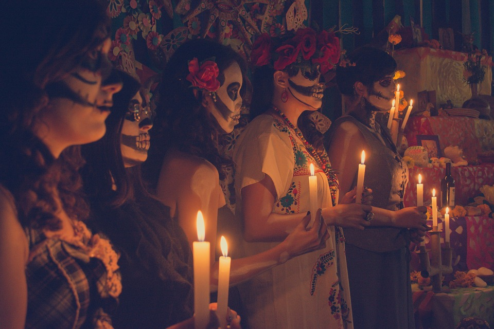 People, Religion, Flame, Day Of The Dead, Old, Darkness