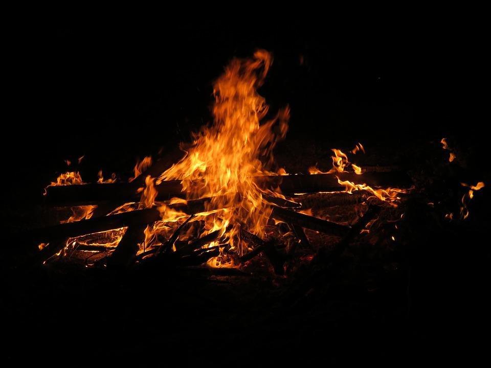 Easter Fire, Fire, Flame, Customs, Campfire, Wood