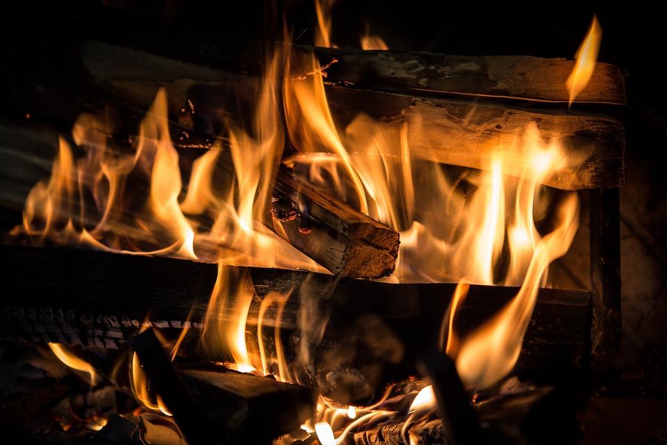 Fire, Fireplace, Flame, Hot, Heat, Embers, Orange, Glow