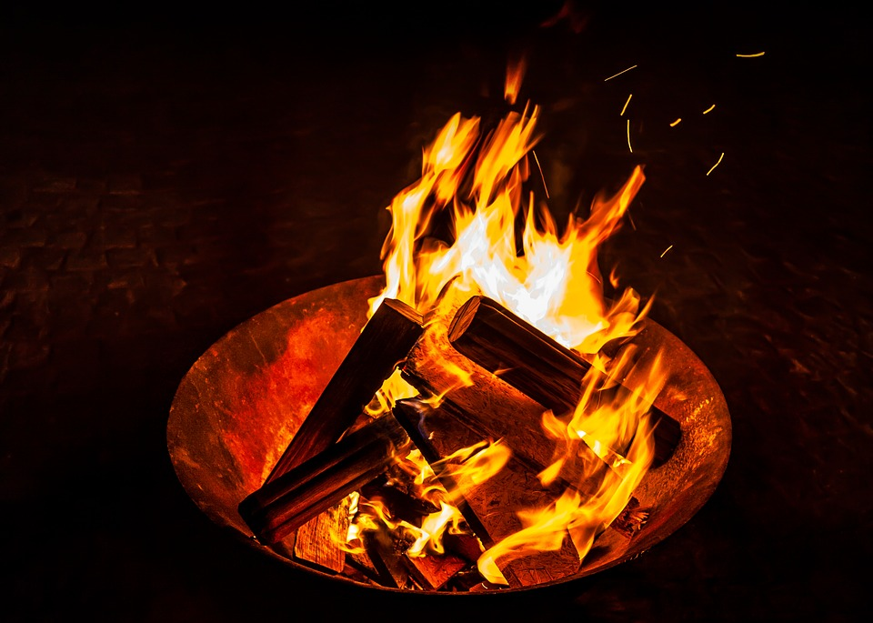 Fire, Fireplace, Campfire, Flame, Wood, Flammable