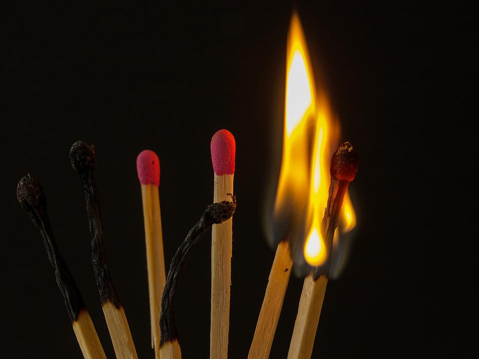 Match, Sticks, Flare-up, Flame, Flammable, Brand