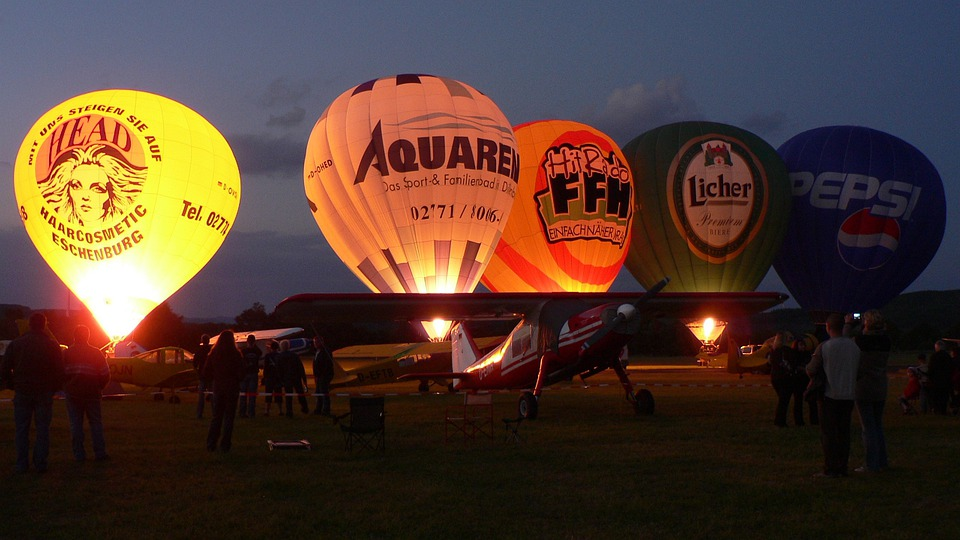 Hot Air, Balloons, Morning, Lights, Flame, Flames