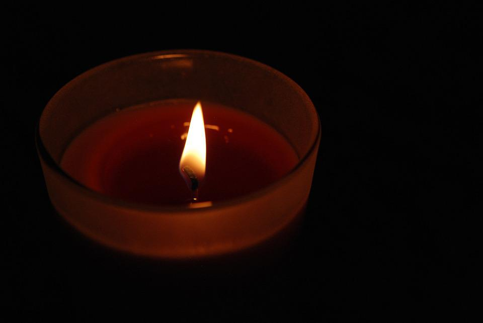 Candle, Glass, Flame, Red