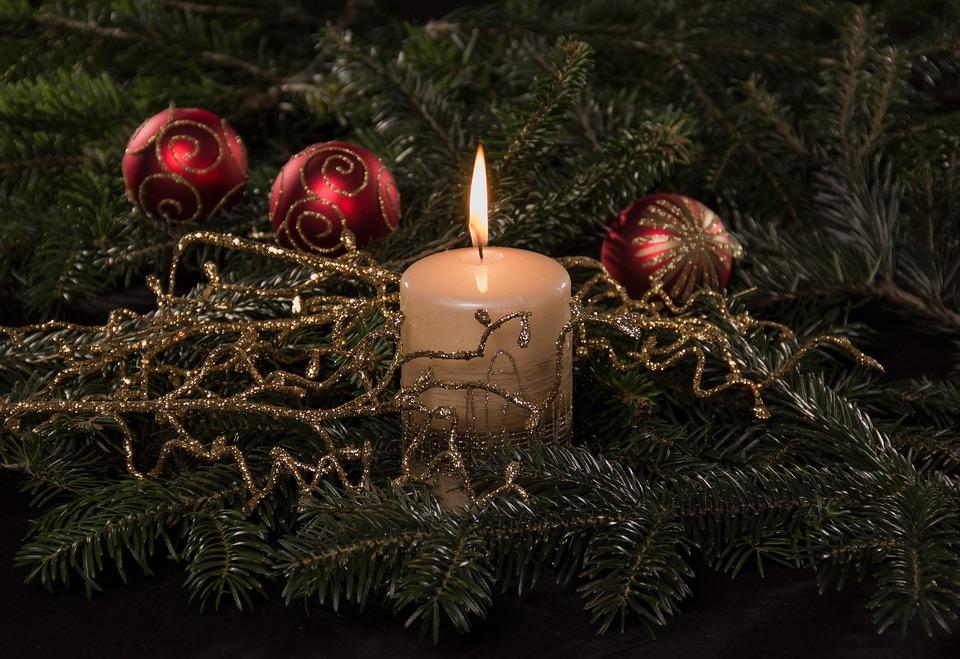 Christmas, Candle, Candlelight, Light, Flame, Shining