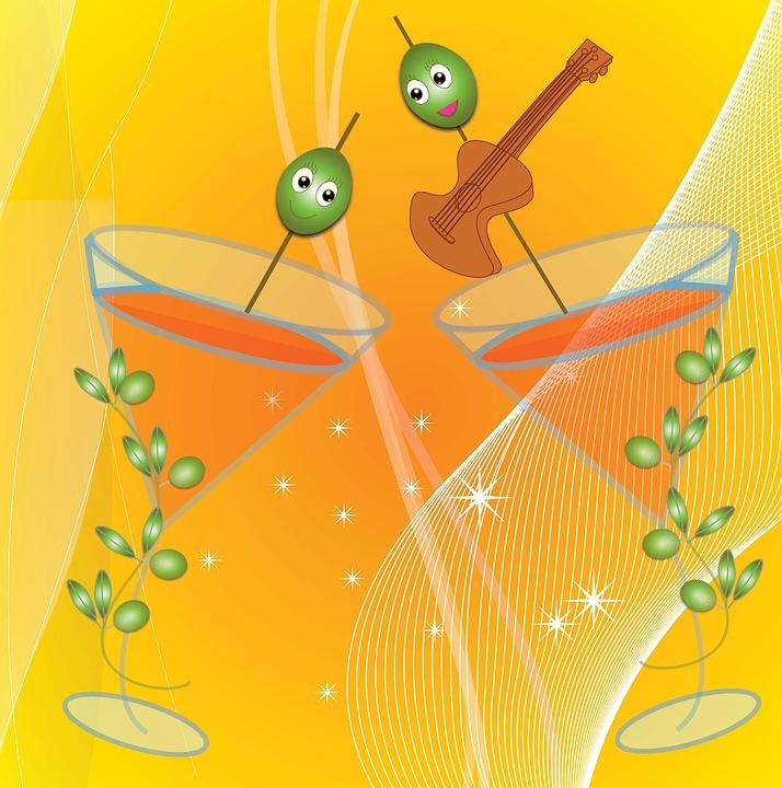 Toast, Flamenco Party, Olivas, Orange Juice, Joy