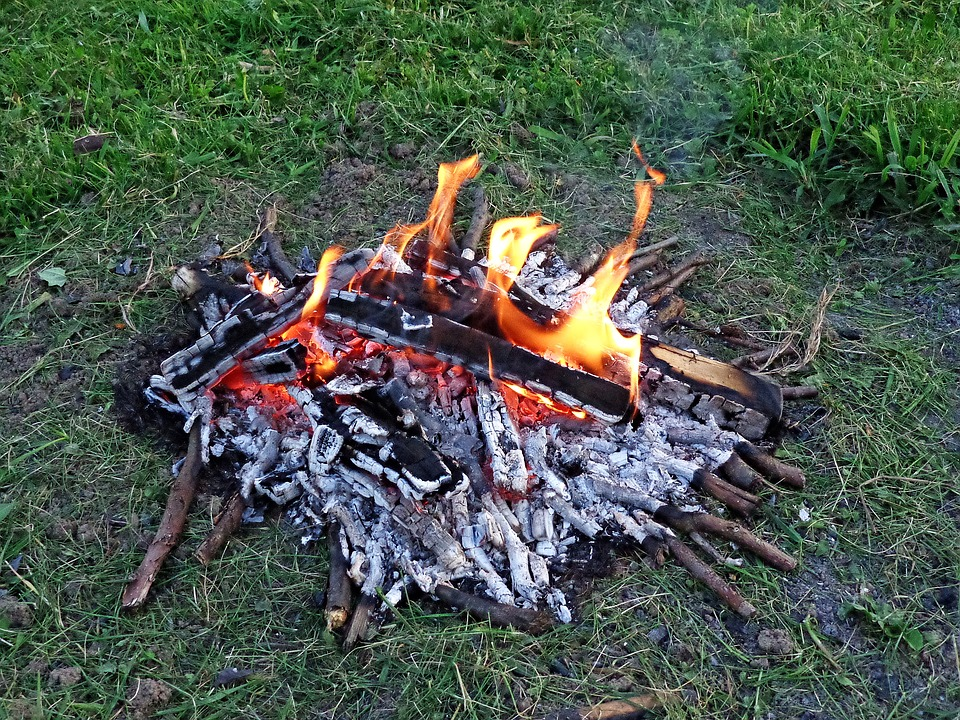 An Outbreak Of, Camping Trip, Camp, Grill, Flames, Fire