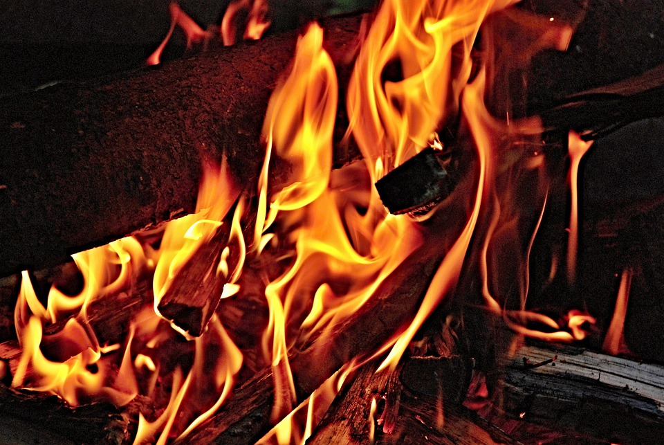 Fire, Flames, Wood, Burning, Flame, Red, Yellow, Heat
