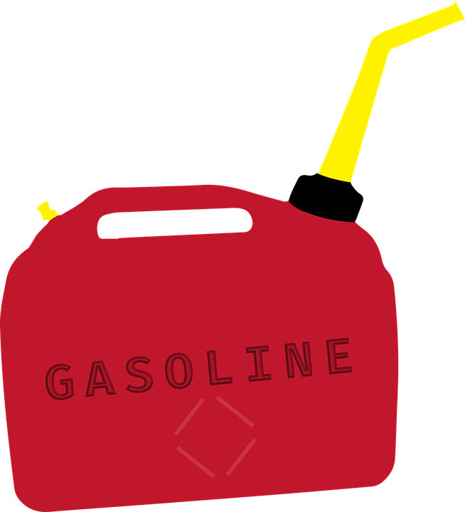 Container, Gas, Fuel, Danger, Flammable, Red, Canister