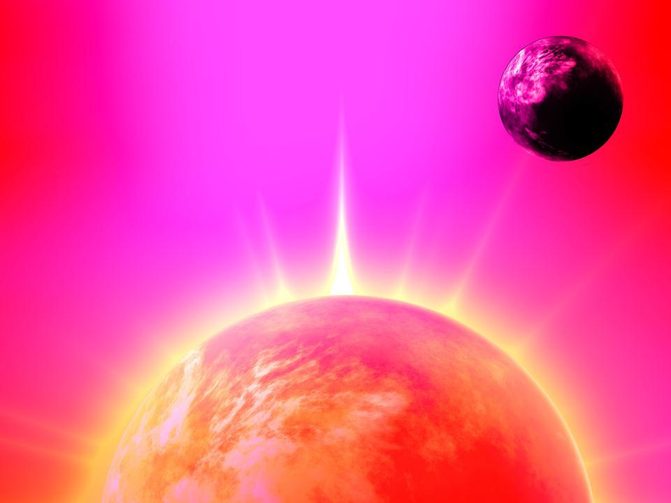 Background, All, Flash, Rays, Star, Wallpaper, Planet