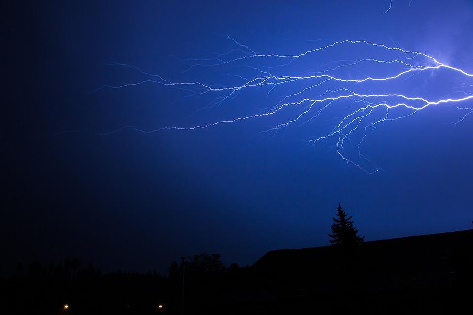 Flash, Thunderstorm, Summer Thunderstorm, Forward