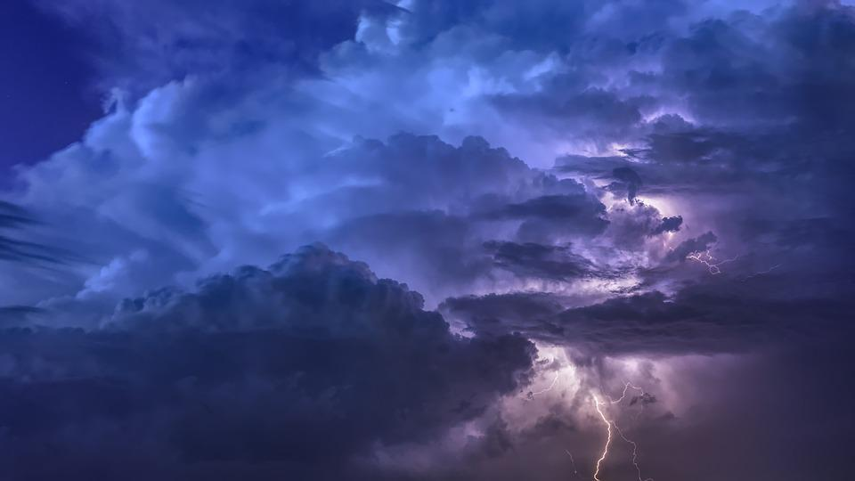 Thunderstorm, Flashes, Night, Weather, Sky, Forward