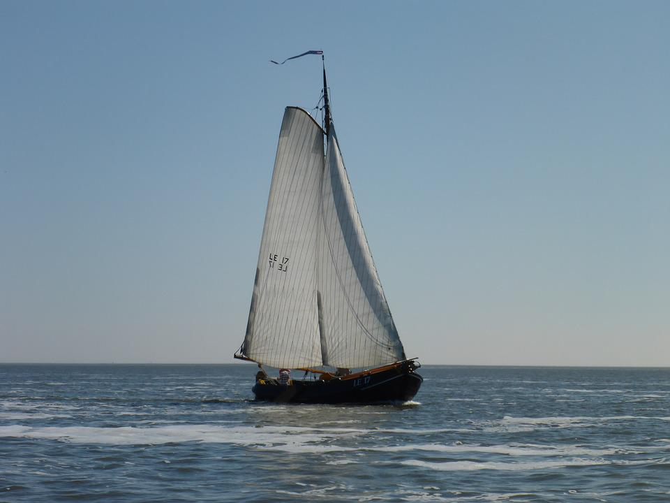 Body Of Water, Sea, Sailing Boat, Craft, Flat Bottom