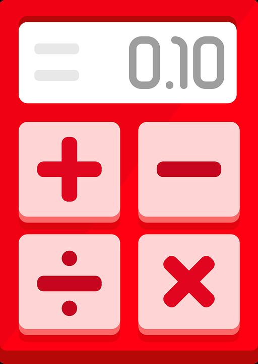 Calculator, Red, Flat Design, Minimalist, Operations
