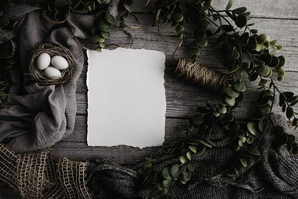 Flat Lay, Template, Wooden, Background, Table, Design