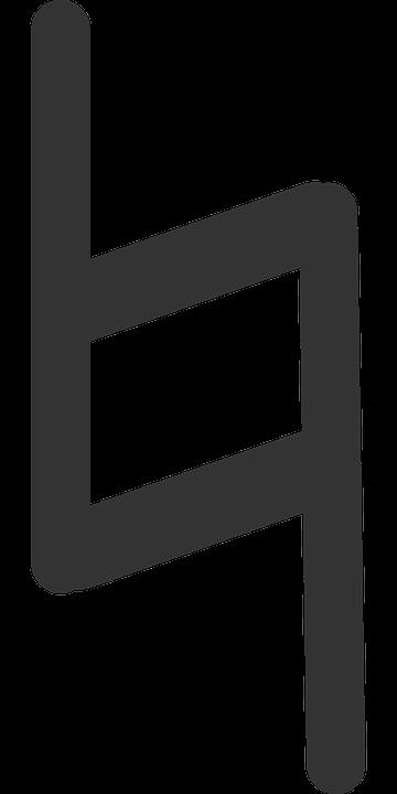 Flat, Note, Bar, Symbol