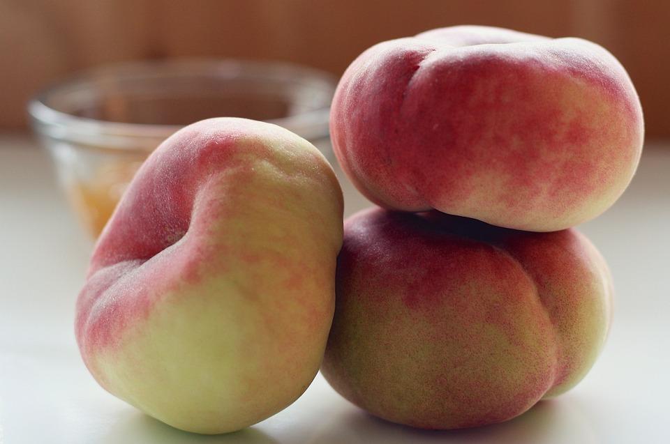 Peaches, Saturn Peaches, Saturn, Flat, Fruit, Summer