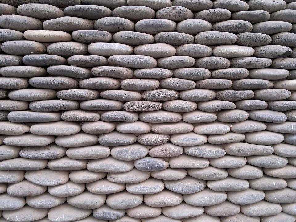 Stones, Flat Stone, Round Stone, Stone Wall