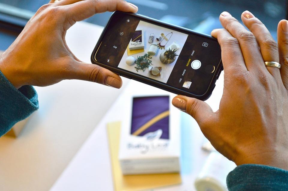 Phone Photo, Flatlay, Instagram, Cellphone