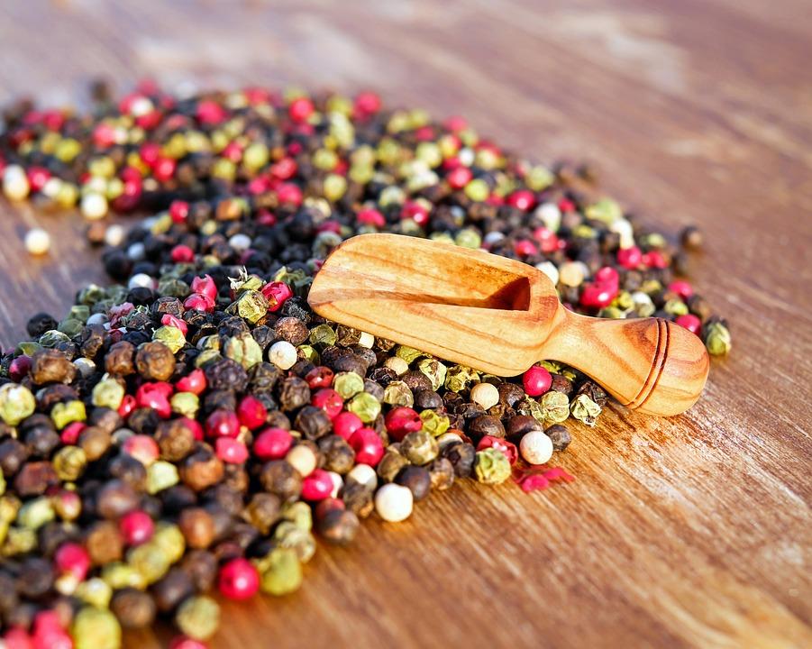 Peppercorns, Spices, Seasoning, Flavoring, Ingredients