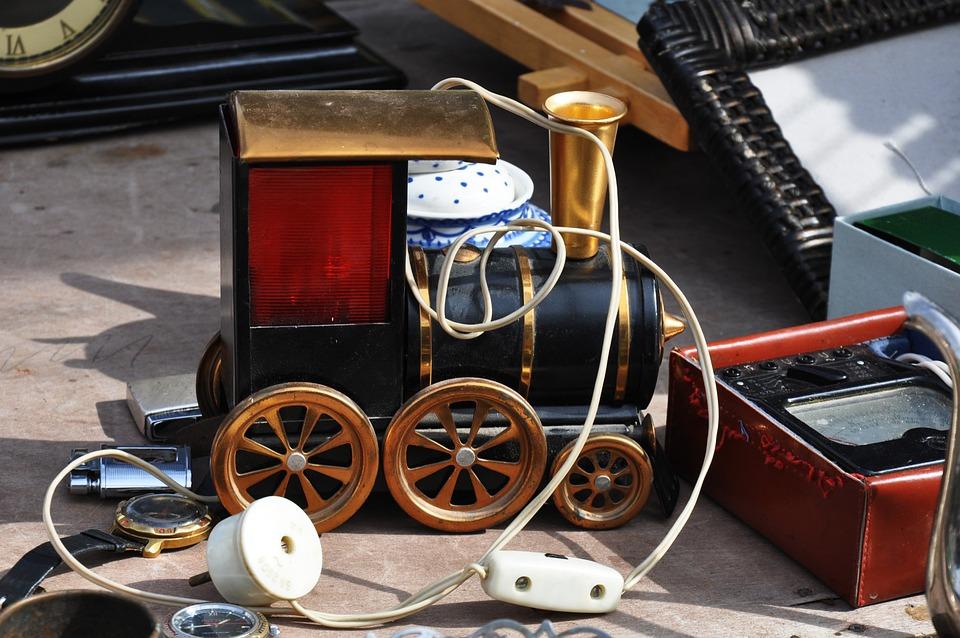 Toy, Steam Locomotive, Train, Vintage, Flea, Market