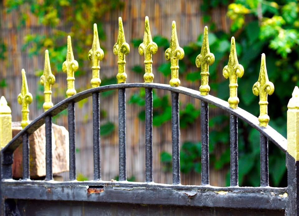 Wrought Iron, Gate, Fleur De Lis, Garden, Fence