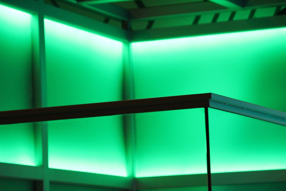 Green, Light, Lighting, Exhibition, Flicker