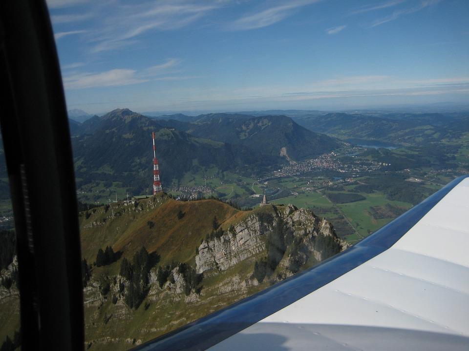 Allgäu, Greened, Durach, Flight, Mountain, Cessna, Fly