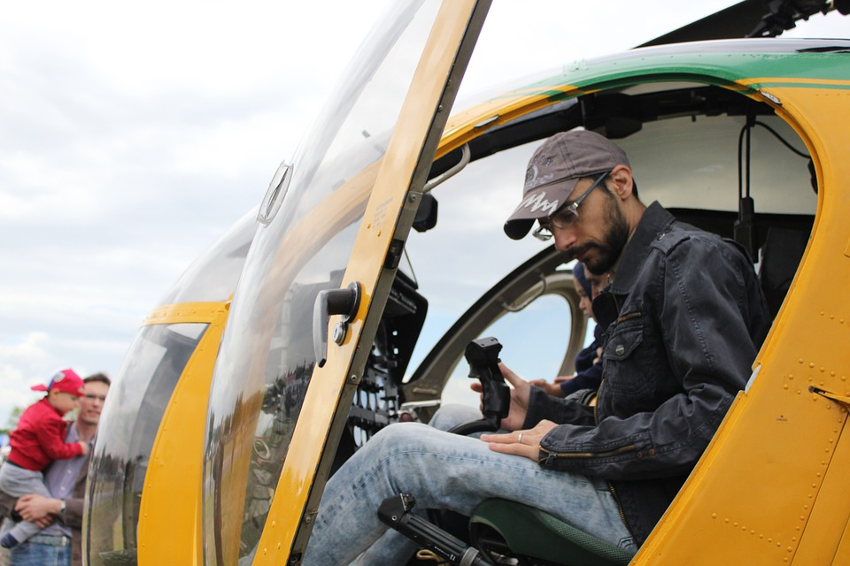 Helicopter, Pilot, Cabin, Flight, Joystick