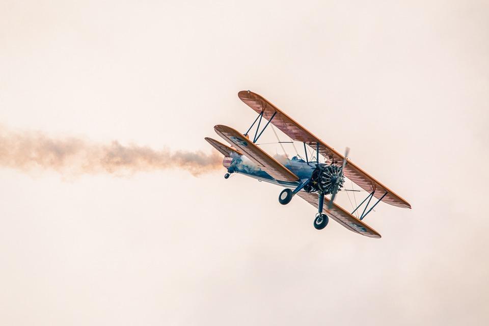 Plane, Flight, Sky, Boeing Stearman Pt-13d