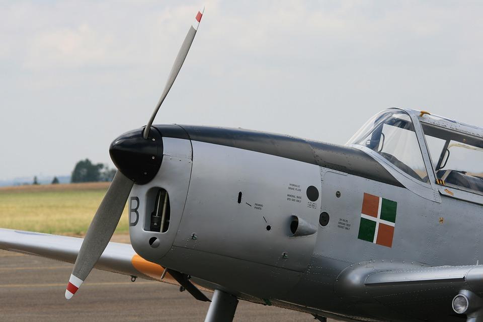 Chipmunk Aircraft, Silver, Apron, Flight, Travel