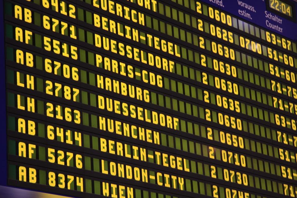 Airport, Flights, Scoreboard, Flight, Travel, Ad