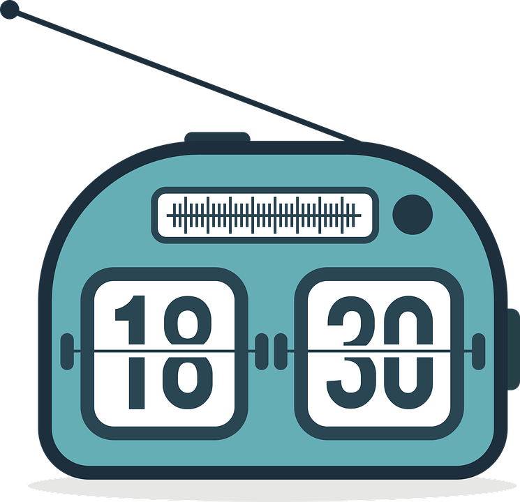Radio Clock, Clock, Analog, Flip Clock, Time, Watch