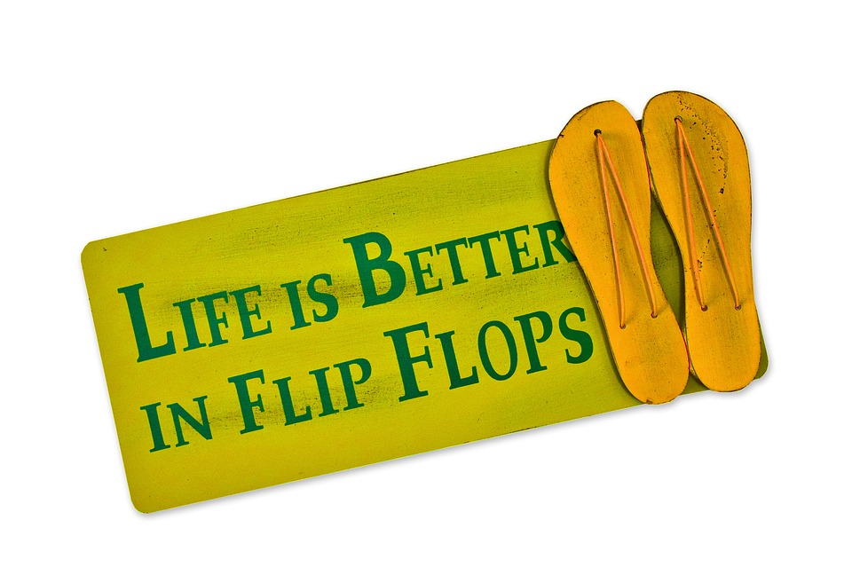 Flip Flops, Shield, Postcard, Live, Better, Shoes