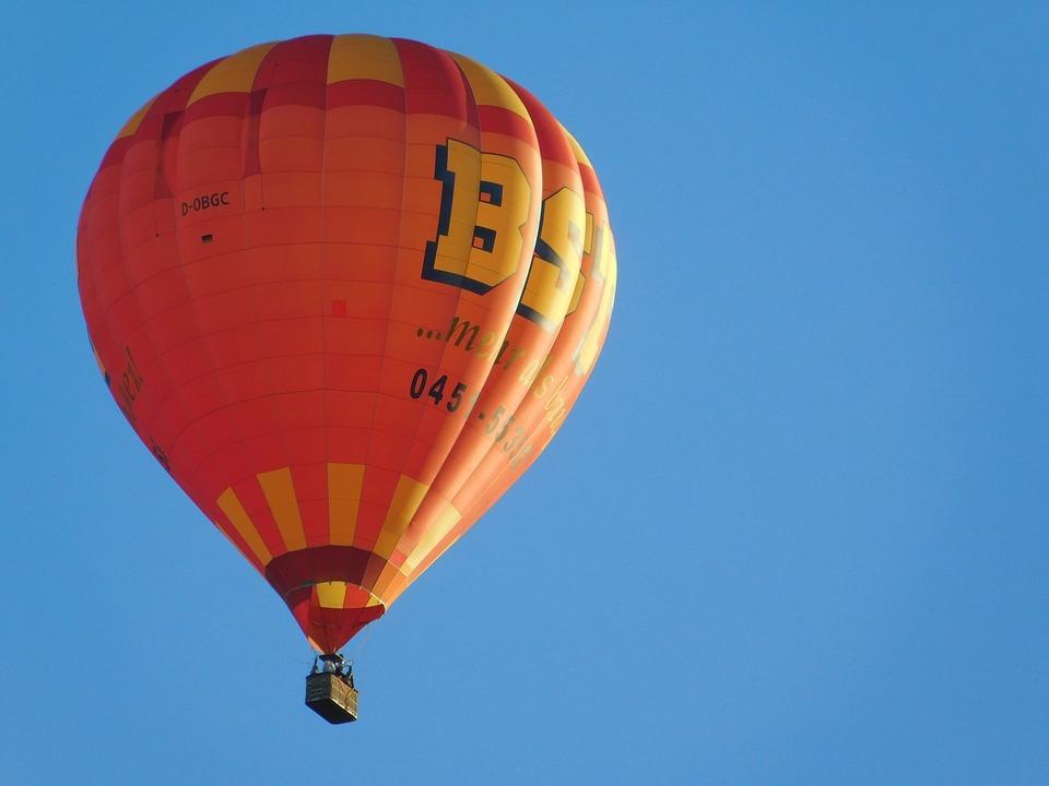 Hot Air Balloon, Sky, Blue, Float, Hot Air Balloon Ride