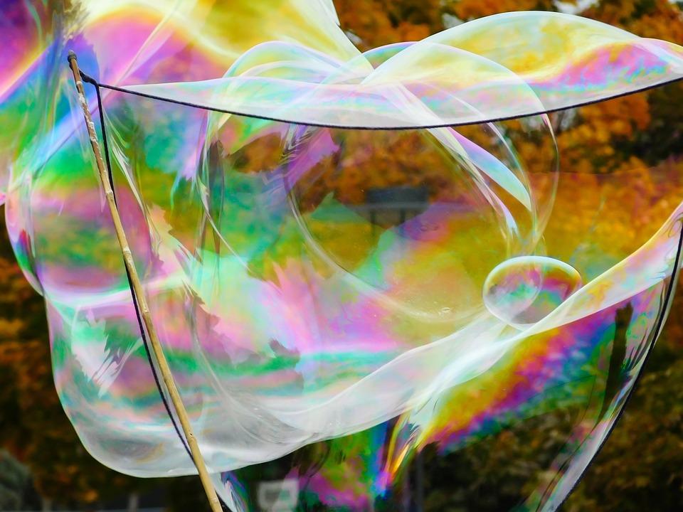 Soap Bubble, Bubble, Fly, Float, Ease, Colorful