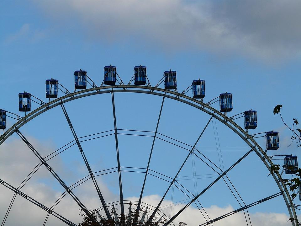 Ferris Wheel, Gondolas, Float, High, Huge