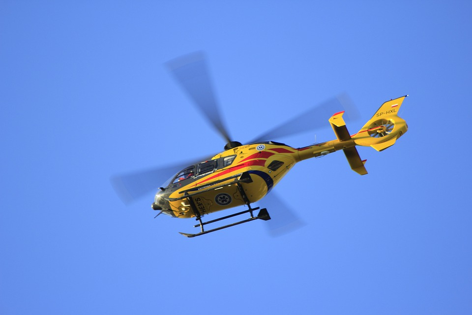 Helicopter, Flying, Medical, Float, Rescue Helicopter